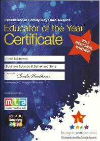 educator 2013 award